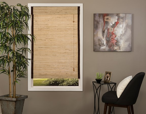 Natural Woven Wood Shade with edge binding