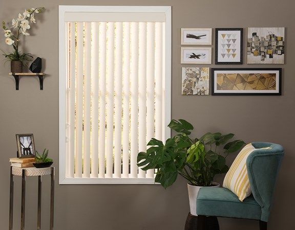Textured vinyl vertical blind