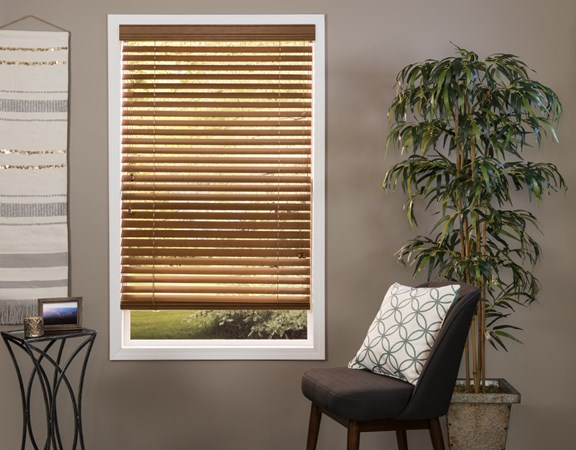 2 inch real wood blind